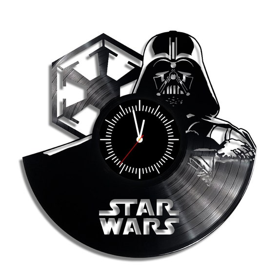 Star Wars Dart Vader Vinyl Wall Clock By Bobbyfinds On Etsy