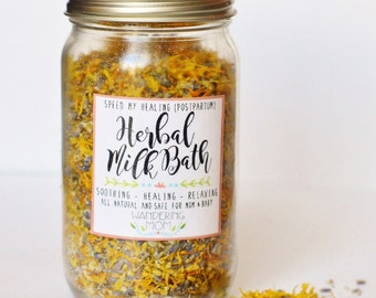 Postpartum Herbal Milk Bath // Wandering Mom - Healing Sitz Bath-New Mom Herb Soak-New Mom Gift-Newborn Photography-Herbal Bath Tea
