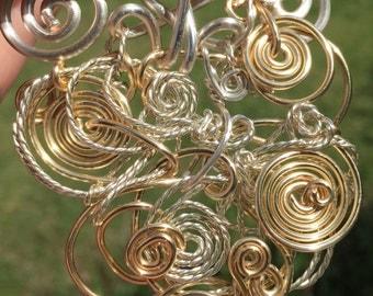 Wire Art Vortex Pendant