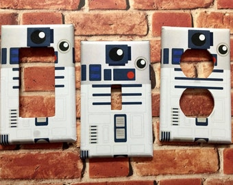 STAR WARS R2D2 Single Outlet,Rocker,Toggle light switch cover plate home decor