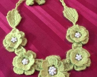 Green colour Necklace