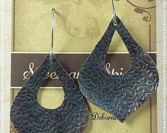 Copper Morrocan Earrings with Sterling Silver earwires
