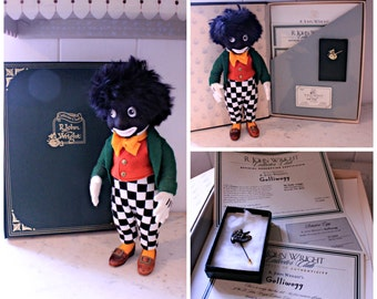 RESERVED FOR HAYLEY - Fantastic Collectable R. John Wright Limited Edition Felt Golly Doll - 'Golliwogg'