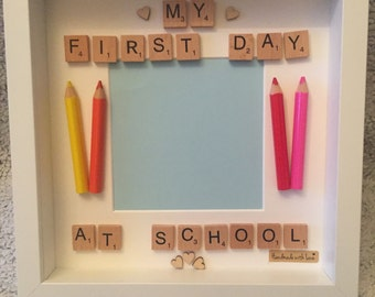 Handmade child's first day at school or nursery