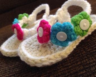 Tiny Toes Crochet Baby Flip Flops