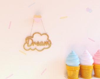 Dream wooden sign