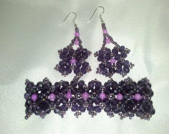 Casual chique purple set