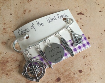 Colors of the Wind - Charm Brooch