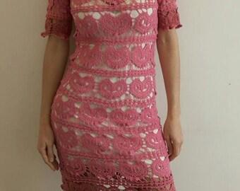 crochet dress with herts