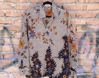 1970-floral Patterned Shirt