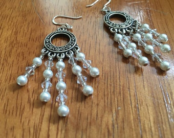 Swarovski and Pearl Earrings