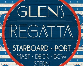 Custom Regatta Sign Digital Download