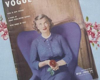 Vogue Knitting Book No 39, 1951