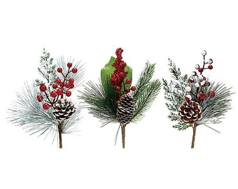 christmas floral picks and sprays