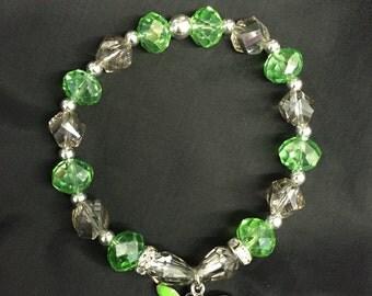 Green Dragonfly Stretch Bracelet