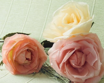 Paper roses, Paper flowers, Wedding bouquet, Wedding decor, Roses