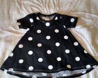 Baby T-dress. 0-3 months