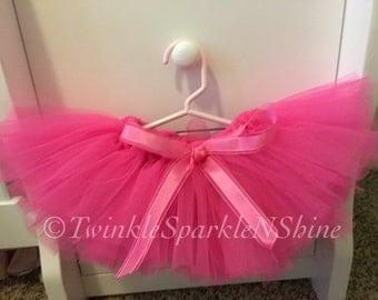 Hot pink tutu and matching headband