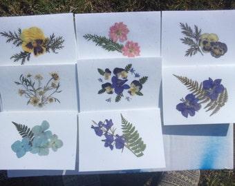 pressed flower notecards