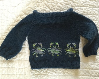 Sweater - Blue: Crabs