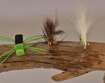 Panfish Fly Selection,Fly Fishing flies, Eighteen Fishing Flies, Fly Fishing Flies In Box, Hand-tied Flies, Bluegill, Crappie, Perch flies