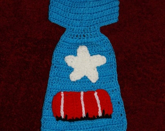 Baby Boy Crochet Handmade  Captain America The Avengers Beanie Hat Size: fit for 0-12months