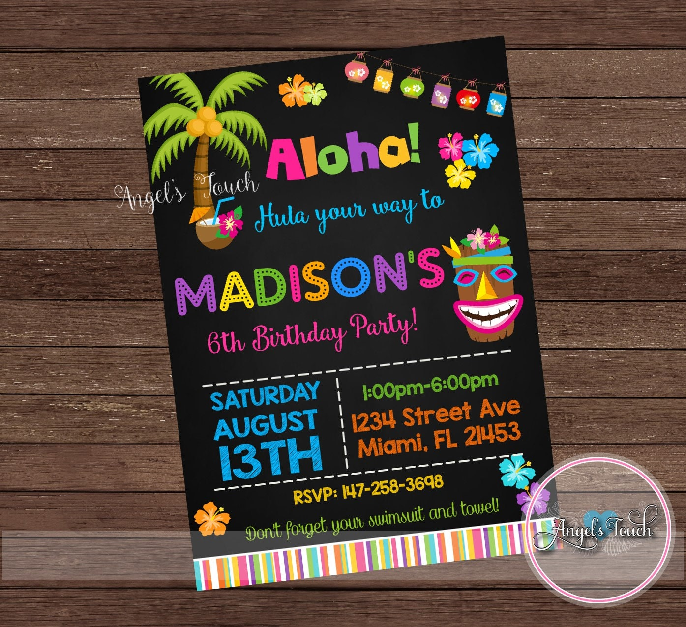 luau invitations  etsy, invitation samples