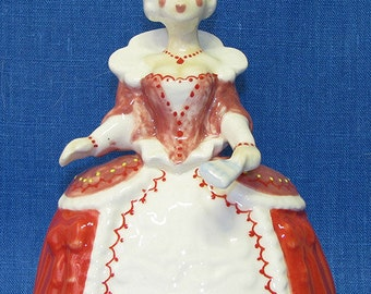 Hand bell royal lady. Porcelain