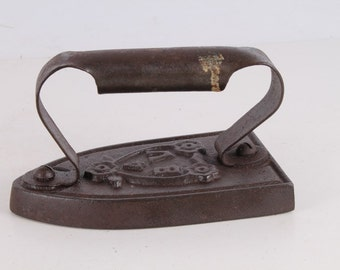 Antique Old Hand Forged Clothes Iron.
