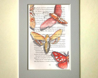 Watercolor Butterfly original drawing