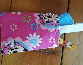 Mini Mouse party favor bag, goody bag, fabric reusable bag