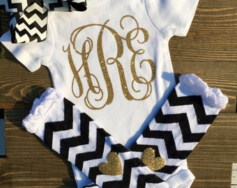 Monogram initial bodysuit, Initial baby, sparkle initial, baby shower