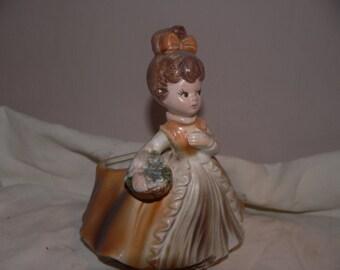 Ceramic Young Girl Figurine/Vase