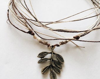 The Esther Hemp Knitted Necklace