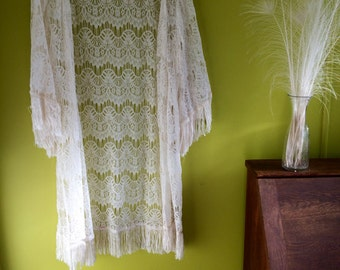 The Angel kimono coat - due to the bell wing like sleeves