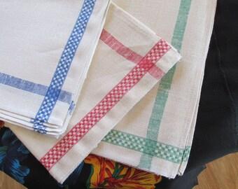 Linen tea towel Polish linen dishcloth never used vintage.