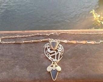 Godess Creation Onyx Necklace