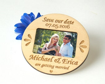 Save the date photo magnet-Save the date rustic-Save the date magnet-Wood save the date-Wedding-Save the date magnet rustic-wedding favors