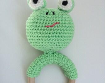 Rattle/Teether frog
