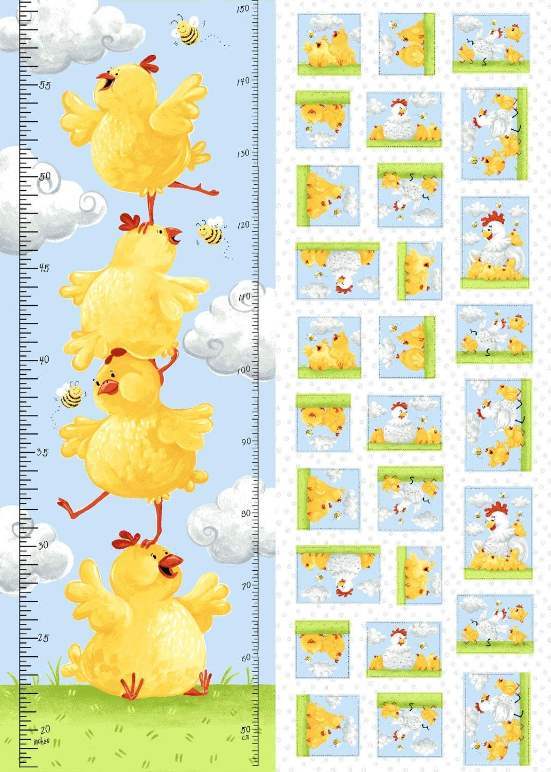 Growth chart fabric susybees pippa chicken growth chart ruler gallery photo geenschuldenfo Images