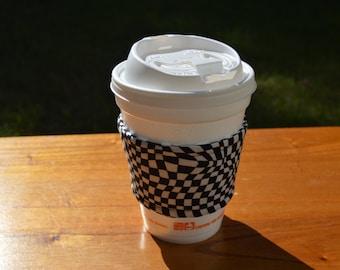 Checkered Flag Coffee Cozy