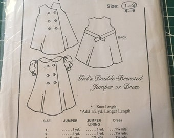 Maggie's Classics Double-Breasted Jumper or Dress Sewing Pattern