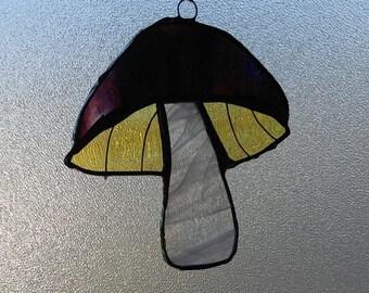 Mushroom Suncatchers-Fungi-Mushrooms-Stained Glass Mushroom
