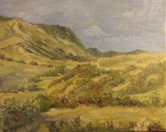 Green Hills Oil Painting