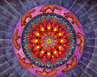 original yoga painting omwoman yoga meditate. Mandala Wall Art , Painting Meditation Original Fox Yoga Omwoman Meditate R