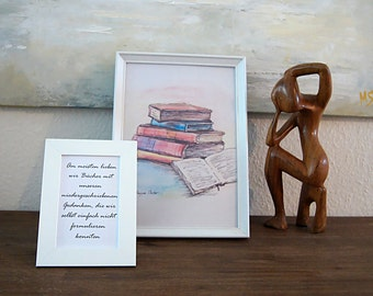Gift set, thank-you gift, Prints of Watercolor and Text, present, Fine Art Print of Watercolor, Picture
