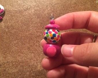 Purple gum ball machine