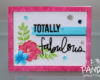 Pink Totally Fabulous Card