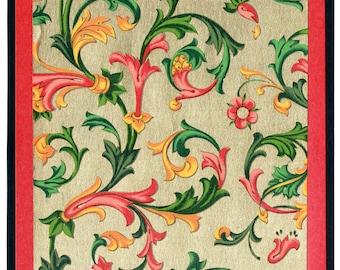 Florentine Card with Gold Swirls Design