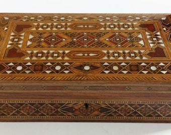 Jewelry box / Multipurpose Storage Wooden Box - Wood Inlay Art